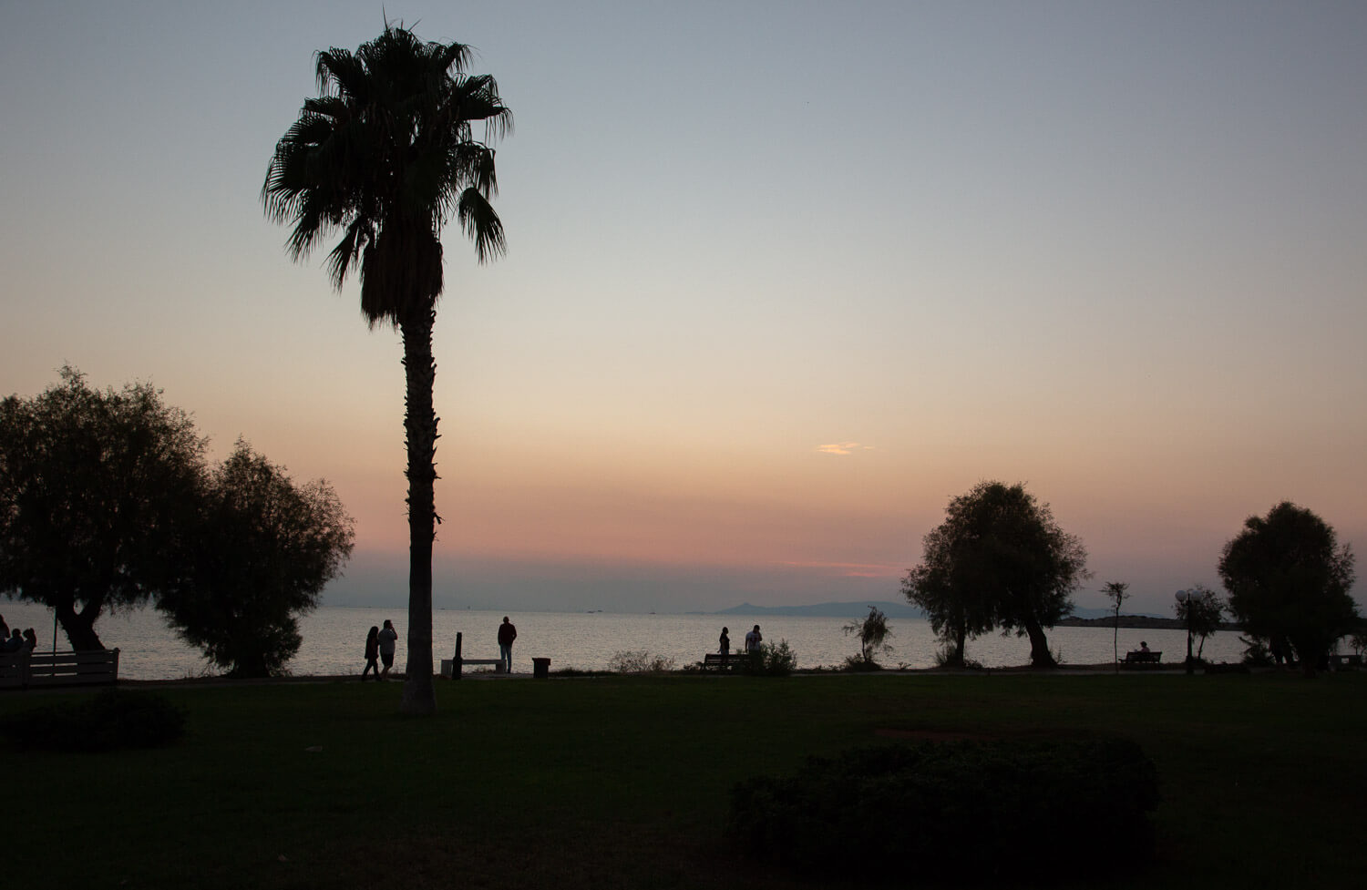 Voula seaside at sunset - Athens Riviera