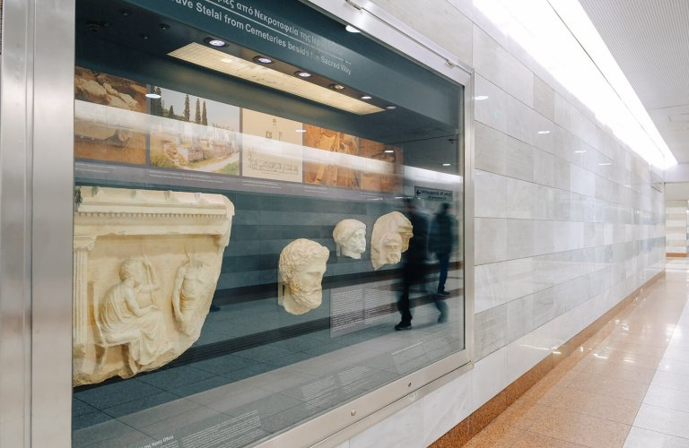 art antiquities Egaleo athens metro