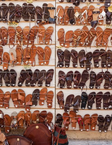 leather sandals monastiraki