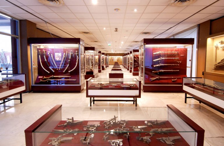 Ground floor: the weapons collection of Major Petros Saroglou. | Courtesy: War Museum