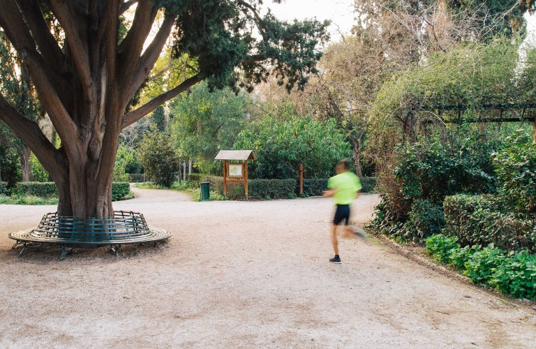 Runner in the National Garden, Athens