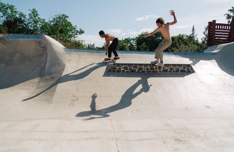 Skaters at Galatsi Skate Park, Athens