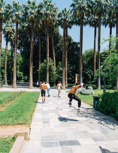 Skaters at the National Garden, Athens