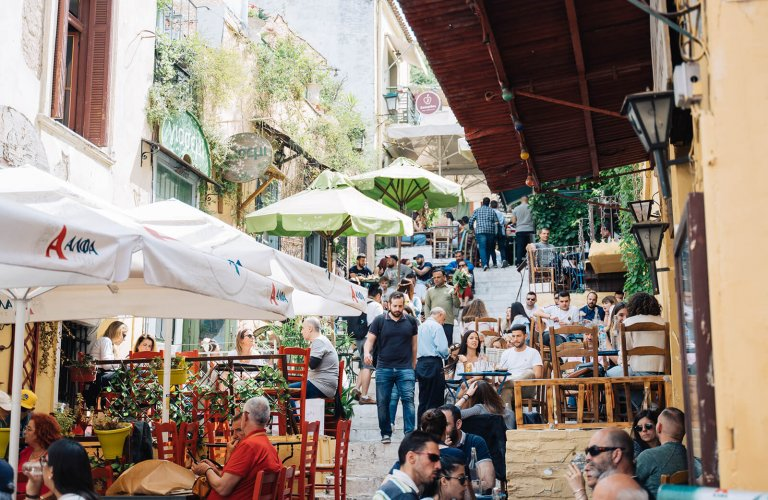 Athens with teenagers cafes