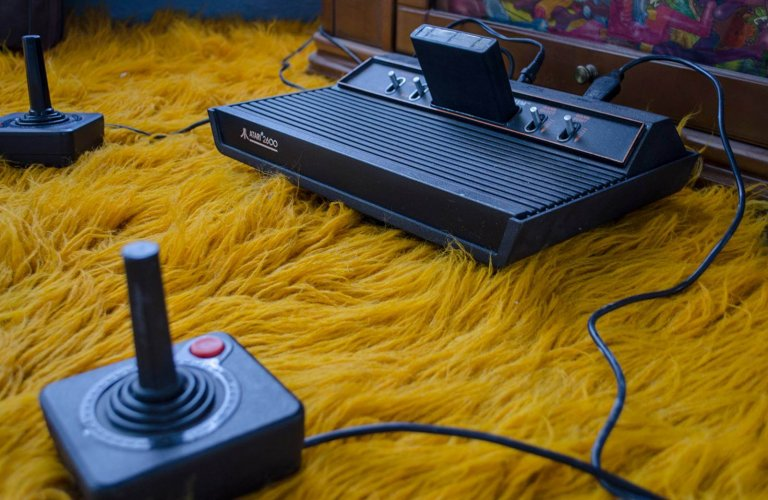 One of the most popular game consoles in the world, the Atari 2600 (1977). | Courtesy: Hellenic IT Museum