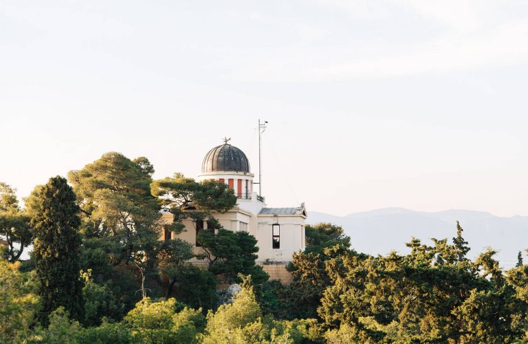 A view of the National Observatory in Athens.