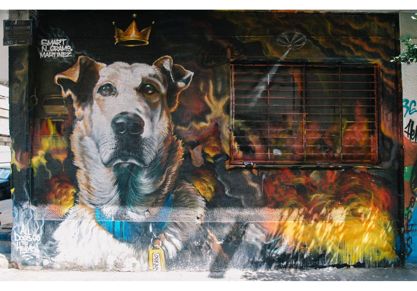 Graffiti of a dog
