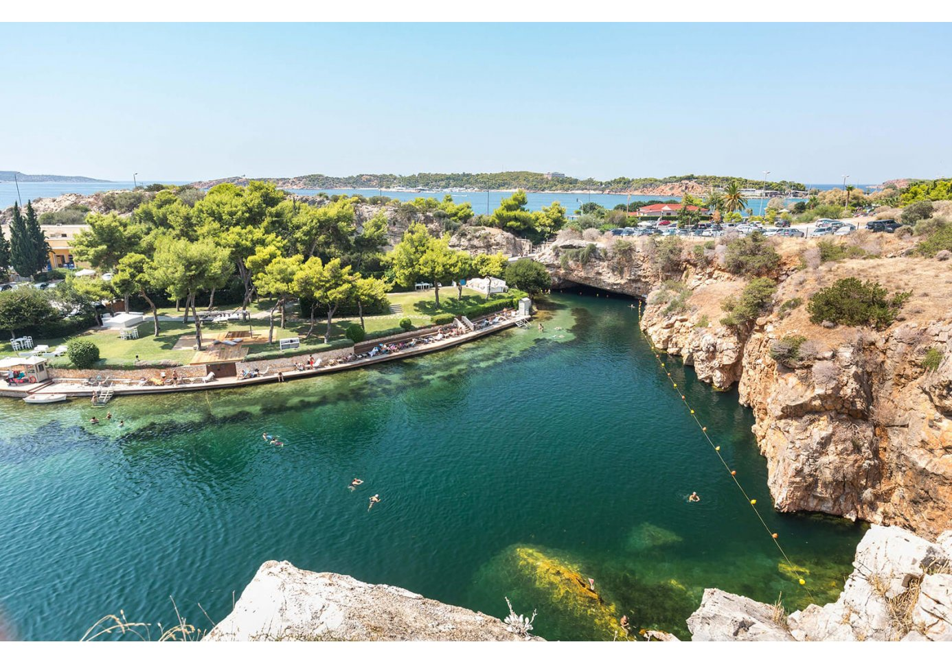 Lake Vouliagmeni in Athens